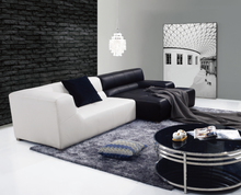 Comfort luxury living room sofa black and white leather sofa