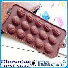 MFG Various shape silicone chocolate molds personalized bakeware ceramic