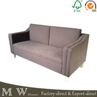 fabric wooden sofa, wood frame sofa, fabric combination sofa