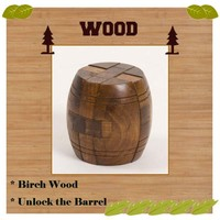 Wooden Craft Barrel Puzzle Assembly