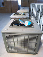 up-discharge evaporative air cooler of fiberglass outside shell
