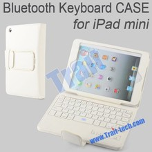 Bluetooth Keyboard 3.0 Leather Flip stand case for iPad Mini 1, 2
