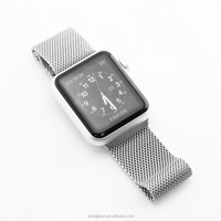 Free Packaging can be added Milanese Watch Strap Luxury 38mm/42mm Stainless Steel Ultra Watchband for Apple Watch