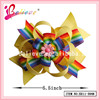 Beautiful hair accessories wholesale in China handmade ribbon bow tie boutique bows clip