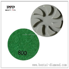 Resin bond diamond pads for concrete floor
