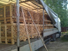 Quality Kiln dried hardwood firewood in pallet.