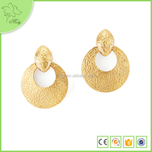 2015 Luxury High End Alloy Hook Charm Hanging Big Round Earrings