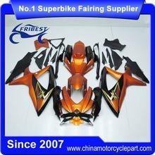 FFGSU004 Motor Fairing For GSX R750 GSXR750 GSX R600 GSXR600 2008 2009 2010 Orange Black With Gold Sticker