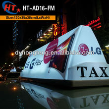Bright white ad magnetic led taxi roof sign light