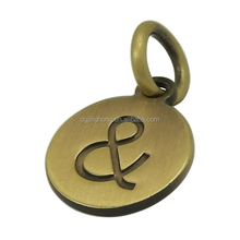 Customized Round Metal Charms (hang tag)