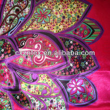 different types floral and flower printed satin fabric