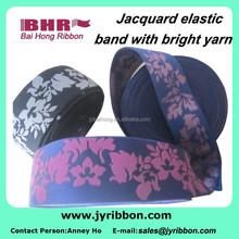 Shiny jacquard women's underwear polyester elastic with bright yarn