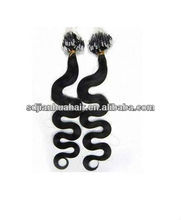 Factory price Black color human hair micro ring loops hair extension