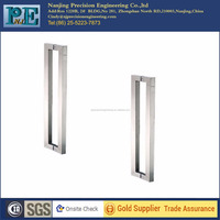 chinese strong bending square stainless steel pull glass door handles
