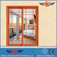 JK-AW9146 Top Hanging Wooden Sliding Glass Door