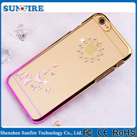Mobile accessories wholesale, guangzhou mobile accessories market, Slim electroplating transparent case for iPhone 6
