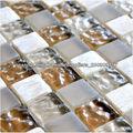 resina de mezcla de cristal de la pared de la construcción / piso material decorativo esmerilado / cóncavo-convexa de piedra ama