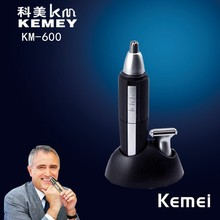 KM-600-1 Kemei washable professional 2 in 1 electric nose & ear hair trimmer