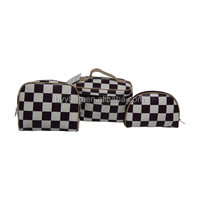square lattice shape pu cosmetic bag for women ,promotion makeup bags with cheap price