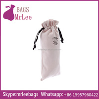 Custom Drawstring wedding wine bag cotton material with custom printing