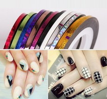 China wholesale (TAPE-2MM) Mixed Colours DILATED Striping Tape Line Nail Art Decoration Sticker