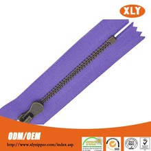 simple style low price rack plating brass teeth close end metal zipper