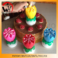 novelty vela party/birthday music box candles