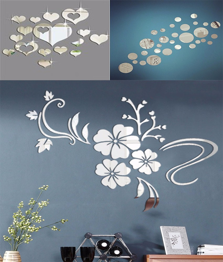 Pour flexible adh sif toile sticker feuille d cor diy for Papier autocollant miroir