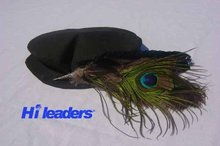 Decorative feather hat pin