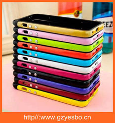 Cell phone case with hand line for iphone 4S 5S 6 6plus TPU +PC hand strap