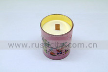 Flameless soy wax scented candle candle jar with wood wick in bulk