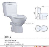 high quality cerami white color two piecec toilet available customer's logo