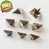 X009 10mm Wholesale high quality pyramid copper two claw studs