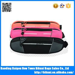 Custom new fashion high quality sports men waist wallet belt for phone and passport