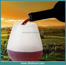 Hot selling 11*9 cm Food soft silicone rubber cup of water ,coffee , beer , wine / mosaic ,liquid , gin, mug glass