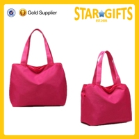Factory direct supply nylon shopping tote bag from China for ladies