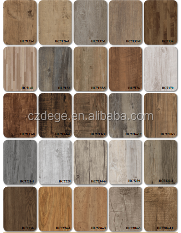 PVC 비닐 나무 바닥 타일/ 클릭 PVC 바닥 가격/ 껍질과 스틱 타일 ...