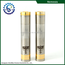 Shenzhen Wholesale Nemesis Mechanical Mod Vaporizer Pen Gold Plated Pin Polish SS Nemesis Mod