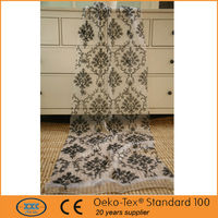 geometric embroidered modern curtain fabric fabric door curtain