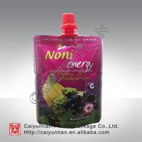 Liquid packing spout bag for juice,Reusable juice bag pouch fruit juice spout bag,fruit juice compound spout bag