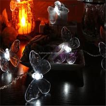 20L butterfly christmas tree light string, solar led holiday light string with butterfly