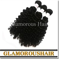 Manufacturer Glamorous Brand Name Product Low Price Full Cuticle virgin hair weaving deep curly