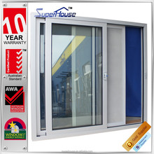2015 NEW AS2047 aluminium sliding doors with white fly screen
