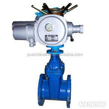 DINstandard non-rising stem Gate Valve with Flange Ends for water chemical pipeline