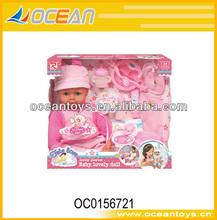 nueva venta caliente 18 niña de la muñeca con ic niñas grandes muñecas de plástico mini muñeca niñas oc0156721