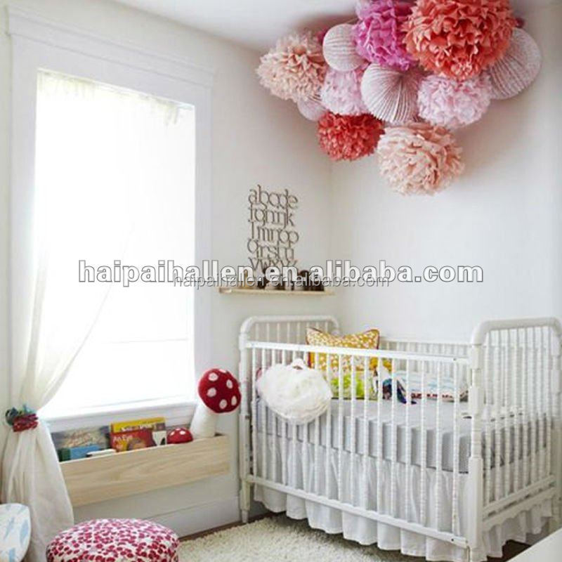 Paper Pom Poms For Baby Room Decoration - Buy Hanging Tissue Pom ...