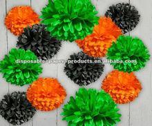 "16"" inch Tissue Paper Pom Poms kelly green, orange , black for wedding,baby shower,Birthday 32 Color in 14 sizes"