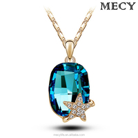 MECY LIFE high grade Austria crystal star charms pendant wholesale