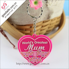 2015 Factory manufacture eco-friendly lovely 3d soft pvc keychain