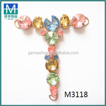 Colorful fashion wholesale shoe T chains accessories decoration for ladies sandals